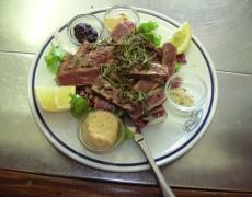 Tagliata di vitello al pepe verde